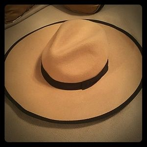 A classic, suede, tan and black hat